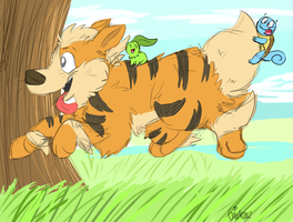 Magical Arcanine Ride! by DogFwish