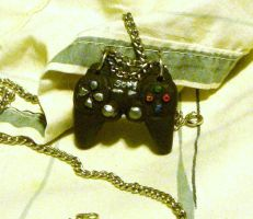 PS3 controller necklace by PiroDragon