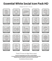 Essential White Social Icons Pack HD by jays838