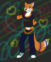 Gay Raver Fox by WarriorCatMoonstreak