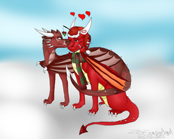 Commish : Thorn and Tanith by ZeCrazyAngel
