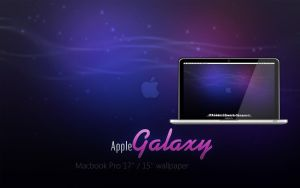 MBP Apple Galaxy Wallpaper by Martz90