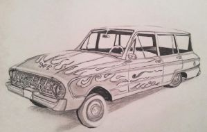 1961 Falcon Wagon by kkrex