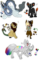 Fantasy Creature Pay-What-You-Want Adopts CLOSED by wakaz