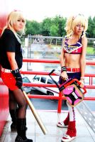 Blonde fighters by MelodyZombie