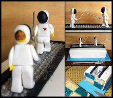 Little Fencers Cake by CakeUpStudio