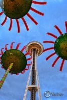 Space Needle And Glass Flowers by SilentMobster42