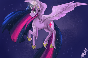 Twilight sparkles- for dennybutt by MrsCurlyStyles