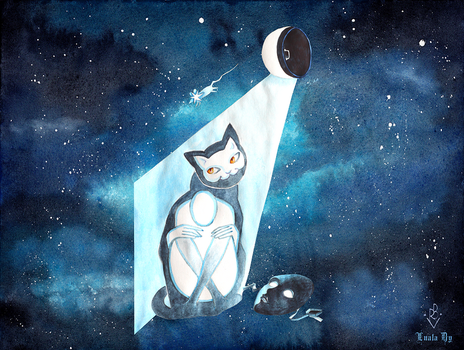 Space Cat by LualaDy