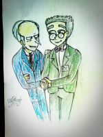 Mr Burns and Smithers my firm style by AlBrolz