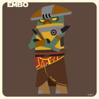 e is for embo by striffle
