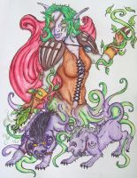 The Begining-Oolanea the Druid by Caylyngasm