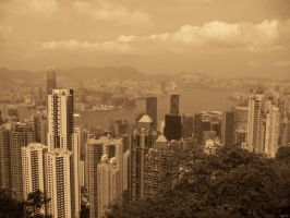 Hong Kong In Brown. by greenhotchocolate
