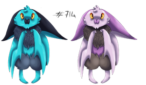 Noibat normal + shiney by pikachu-jaune