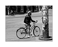 Strangers on bicycles by panfoto