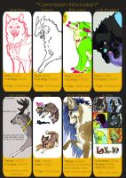 Commission Prices by Kiboku