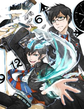THE BLUE EXORCIST YEAHHHHH by konoesuzumiya