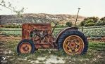 old rusty tractor by sixhundredsixty