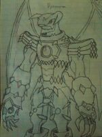 Dynasmon Drawing by Omnimon1996