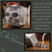 Cube Racoon by KrazyKell