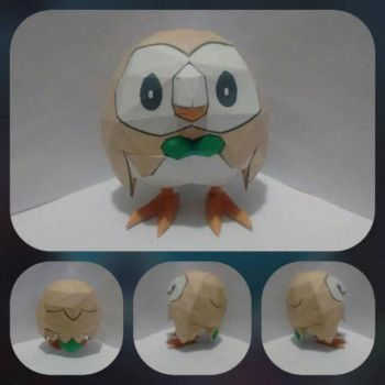 Rowlet Pokemon Papercraft by Ximira21