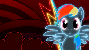 Rainbow Dash neon wallpaper 2 by AllicornUK