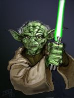 Yoda in limbo by Tophoid