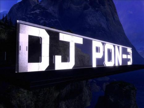 MLP FIM DJ PON-3 Halo Sign by SONICHEDGEHOG93