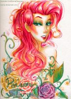 Watercolor Poison Ivy by LemiaCrescent