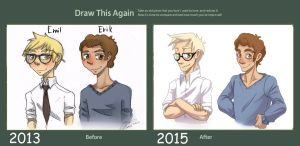 Draw this again meme  Emil and Erik by Imoon90