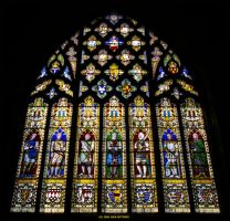 Knights Stained Glass Window by Hitomii