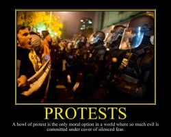Protests Motivational Poster by DaVinci41