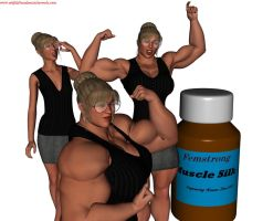 Female Muscle Growth 2 by SteeleBlazer84