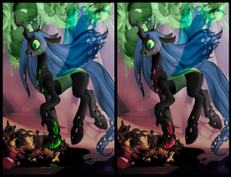 Commission - Queen Chrysalis by impia-dea