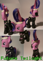 Future Twillight sparkle custom figure by caramelpony