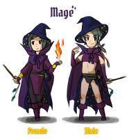 Reverse game stereotype design - Mage by spidercandy