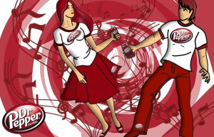 MUSIC AND DR. PEPPER by SCT-GRAPHICS