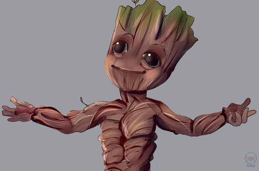 Baby Groot mothersday by Spice-Twinkle-Pop