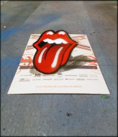 3D painted lick on rolling stones  flyer by kriminalrx