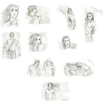 Ironfrost Pocahontas AU sketch dump by Sanzo-Sinclaire