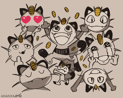 Meowth by AnanyaArts