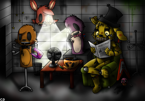 [FNAF3] A Normal Day for Bonnie the Springtrap. by ClemDouDou