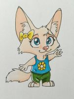Jazzie Shootoa The Fennec Fox by RoninHunt0987