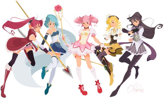 Magical Girls by Olive-In-Pinkland