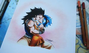 Gajeel and Levy kiss! *o* by InlineSpeedSkater