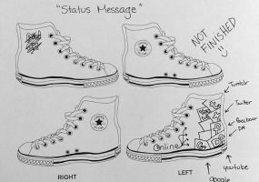 Status message-Shoe Design by Augustyne
