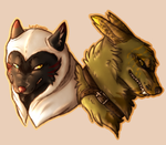 Enemies YCH - Wolftair and Viceroy by Evertooth