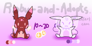 Tiffin and Liffin Adoptables [CLOSED] by Rabu-and-Adopts