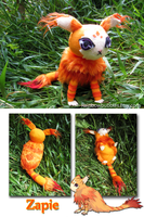 Commission- Zapie from Tales of Rebirth fanplush by Rainbowbubbles
