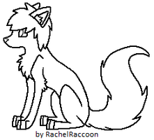 Lineart - Mini Scenedog by RachelRaccoon